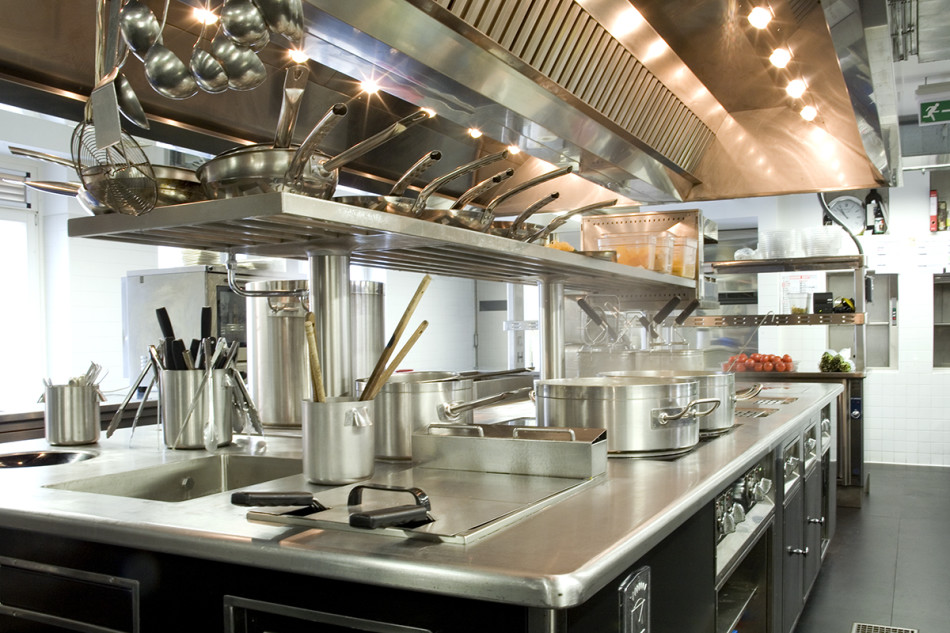 la suddivisione degli ambienti nelle cucine professionali